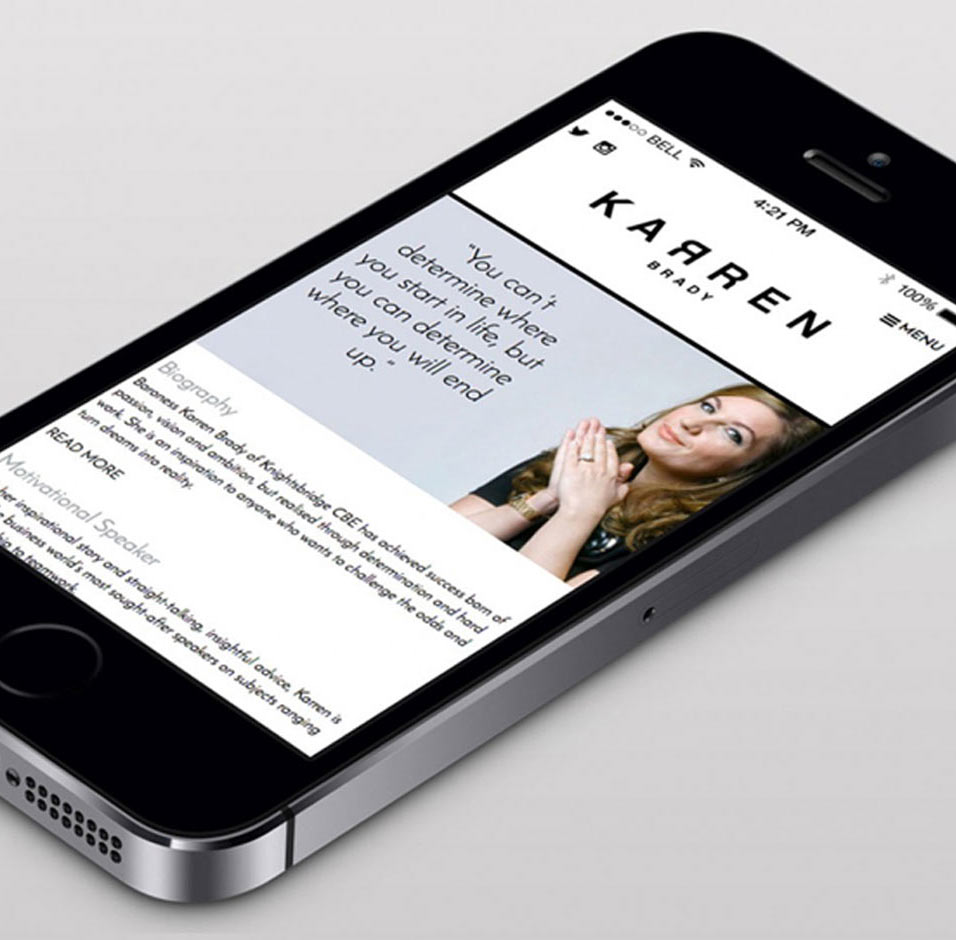 karren brady mobile website