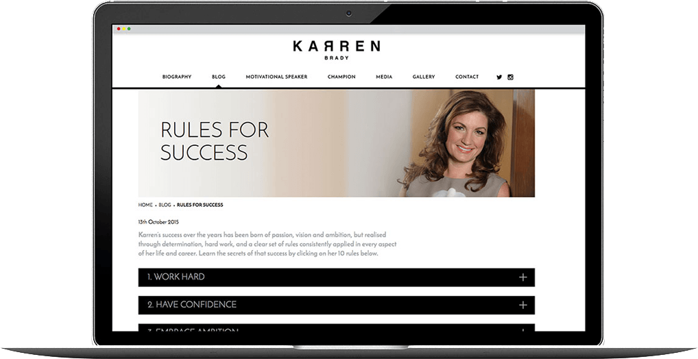 karren brady website design
