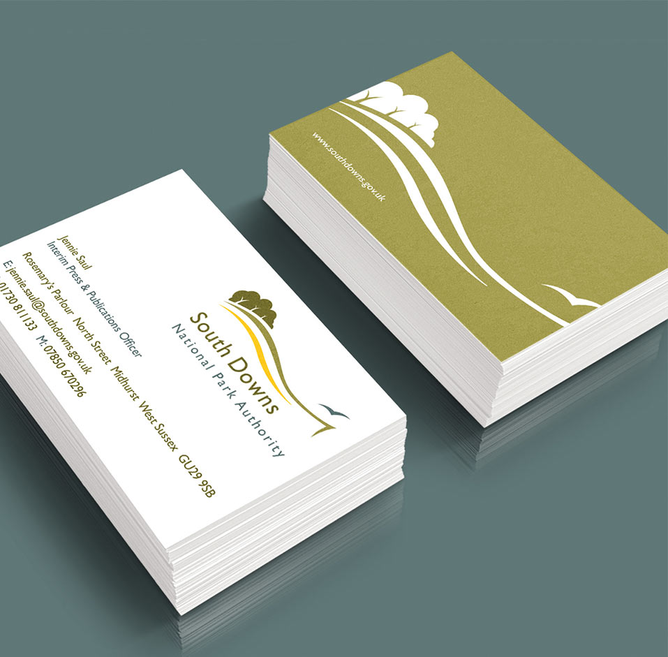 south downs business cards
