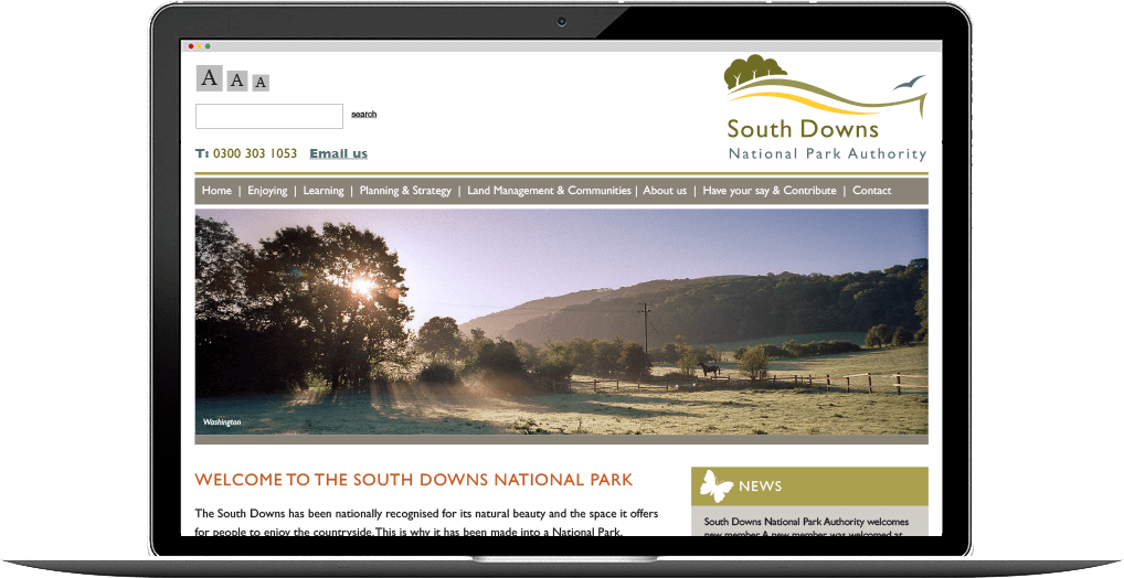 south downs website