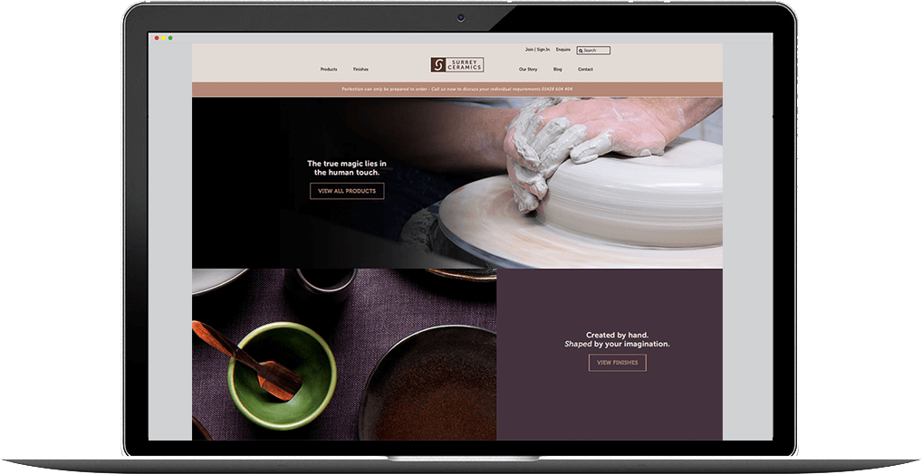 surrey ceramics website